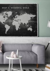 Eindelijk in huis: een wereldkaart!